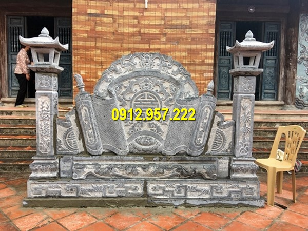 Thi công bình phong từ đường tại Nam Định