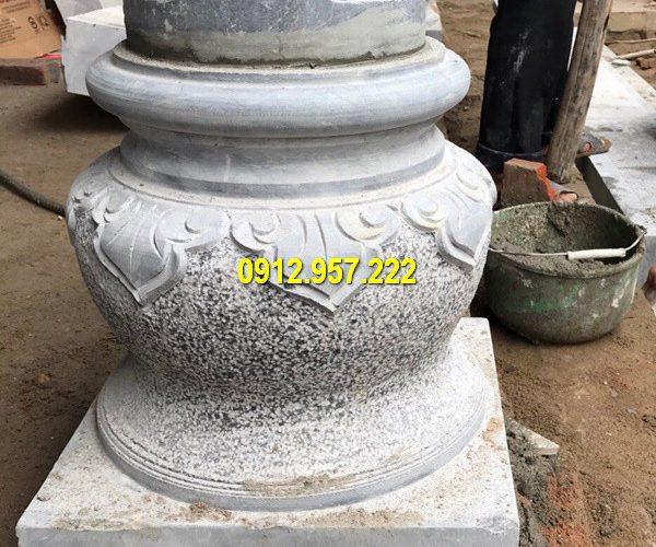 Mẫu chân cột đá đẹp nhất được chế tác từ đá tự nhiên nguyên khối