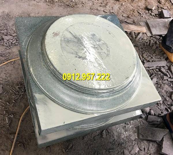 Thi công lắp đặt bán chân tảng đá kê cột tại Quảng Ngãi