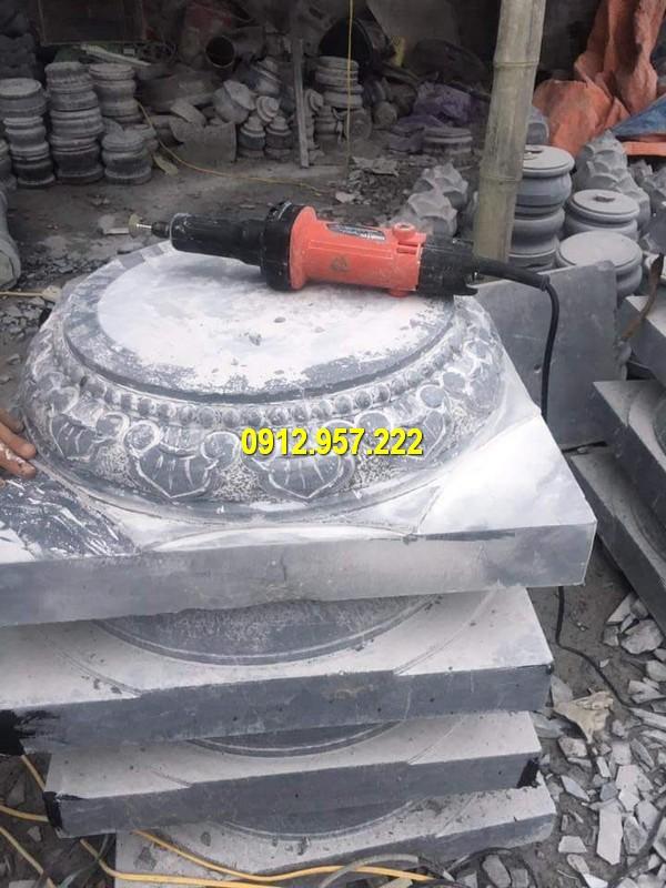 Thi công lắp đặt bán chân tảng đá kê cột nhà ở Bình Định