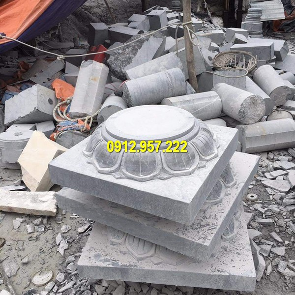 Thi công lắp đặt bán đá kê cột gỗ đẹp tại Ninh Thuận