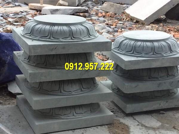 Thi công lắp đặt bán tảng đá kê cột đẹp ở Gia Lai