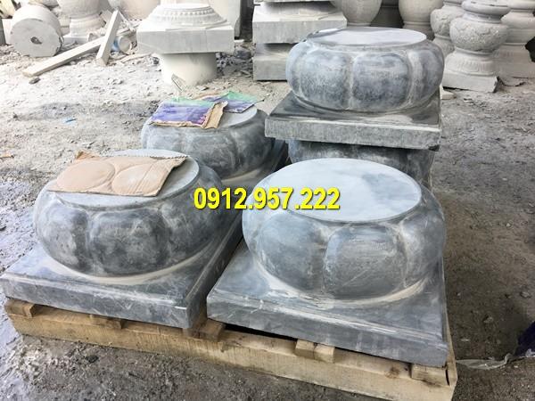Thi công lắp đặt bán chân cột đá nhà gỗ tại Thanh Hóa