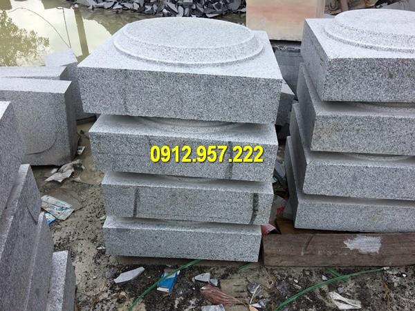 Thi công lắp đặt bán chân cột đá nhà thờ ở Nghệ An