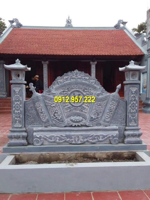 Lắp đặt bức bình phong lăng mộ tại Nghệ An