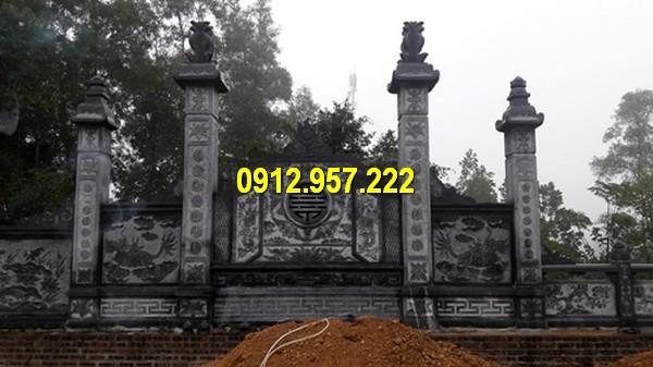 Chế tác bình phong đá nhà thờ ở Phú Yên