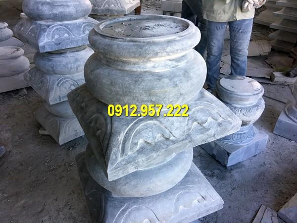 Thi công lắp đặt bán tảng chân cột đá ở Lạng Sơn