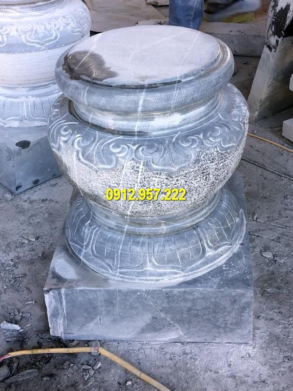 Thi công lắp đặt bán chân cột bằng đá tại Tuyên Quang