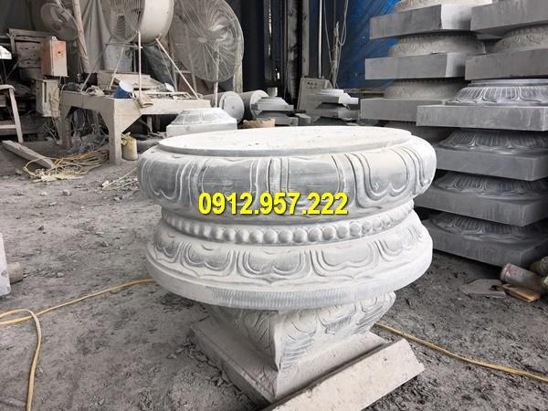 Thi công lắp đặt bán chân cột đá tảng ở Yên Bái