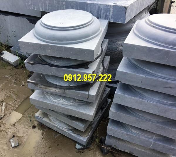 Thi công lắp đặt bán tảng đá kê chân cột gỗ tại Hưng Yên