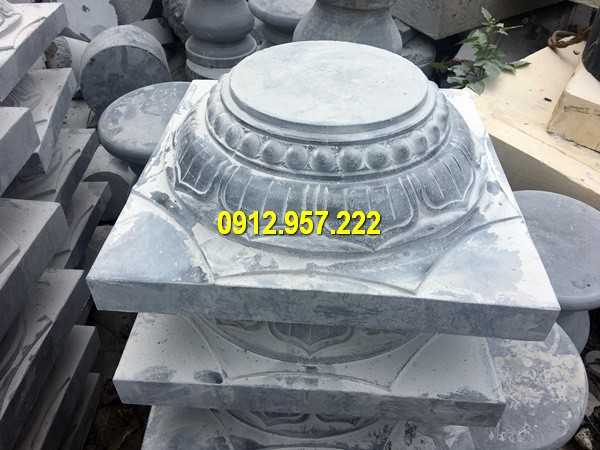 Thi công lắp đặt bán mẫu chân cột bằng đá ở Hoà Bình