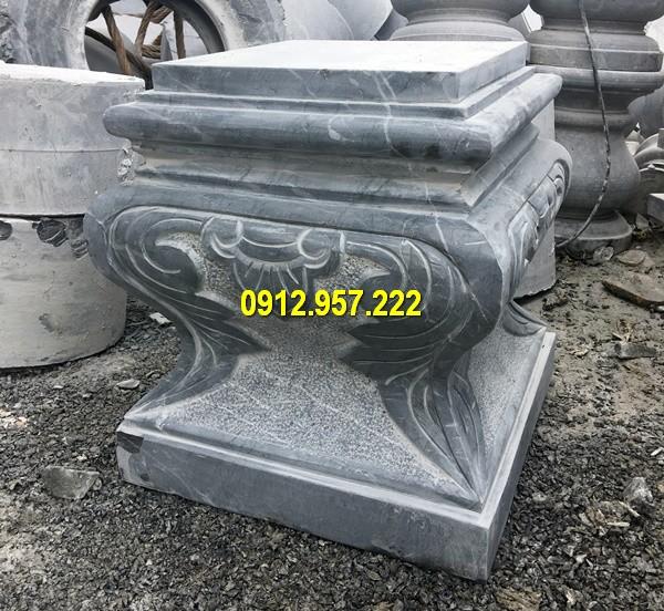 Thi công lắp đặt bán mẫu chân cột đá vuông tại Lào Cai