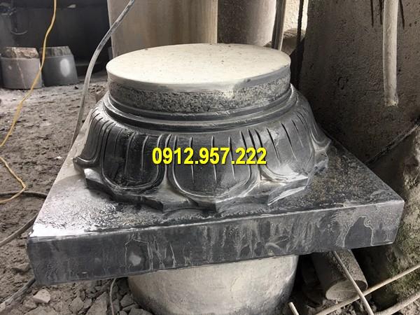 Thi công lắp đặt bán mẫu chân cột đá tròn tại Lai Châu