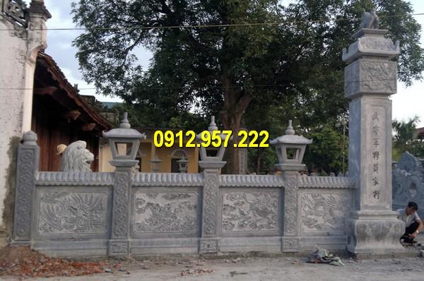 Thi công lắp đặt bán lan can bằng đá đình chùa nhà thờ họ tại miền Trung
