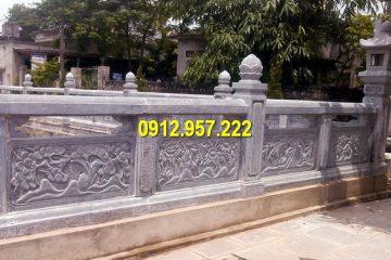 Làm lan can đá đình chùa tại Lạng Sơn
