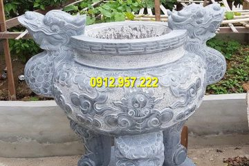 Chế tác lư hương đá tròn tại Hà Nội
