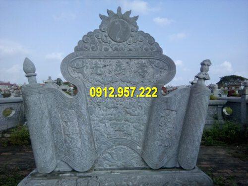 Giá cuốn thư đá bình phong tại Long An