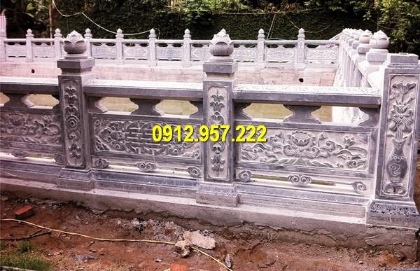 Thi công lắp đặt lan can đá nhà thờ họ đình chùa tại miền Nam uy tín