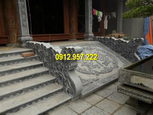 Thiết kế, báo giá bậc tam cấp đá nguyên khối kích thước chuẩn phong thuỷ