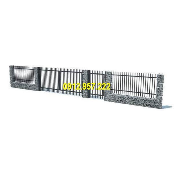 Ý tưởng thiết kế hàng rào đá cuội đẹp mắt