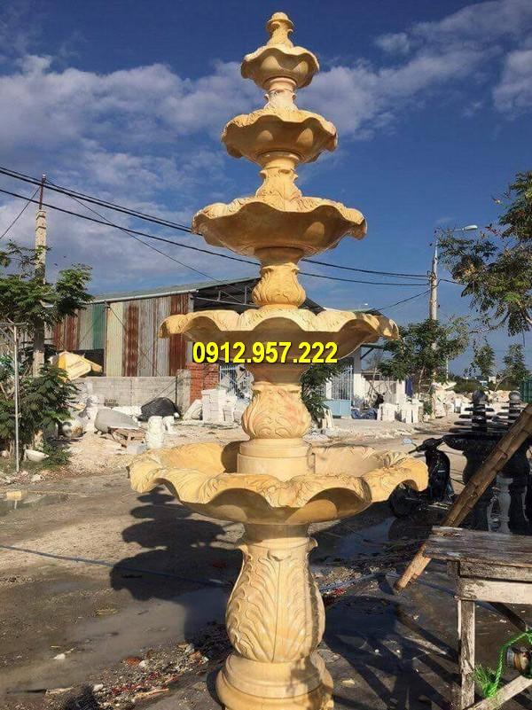 Đài phun nước bằng đá vàng tự nhiên