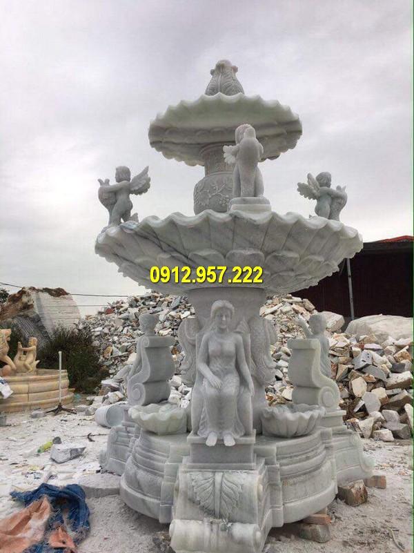 Đài phun nước biệt thự chạm khắc đẹp