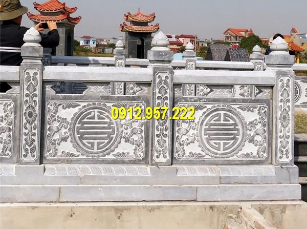 Đá mỹ nghệ Thái Vinh thi công lắp đặt làm hàng rào đá đình chùa nhà thờ họ