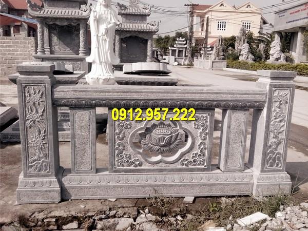 Lan can đá đình chùa - Các mẫu lan can đá nhà thờ họ đơn giản mà đẹp