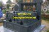 Mẫu mộ đá hoa cương nguyên khối xanh đen đẹp