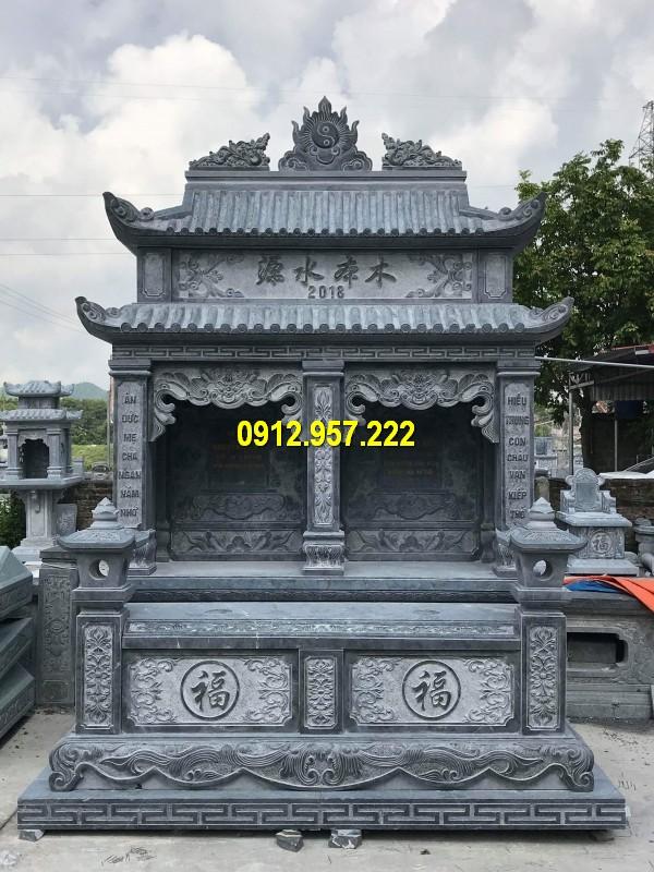 Mẫu lăng mộ đá đôi giá rẻ, thiết kế đẹp tại Đá mỹ nghệ Thái Vinh