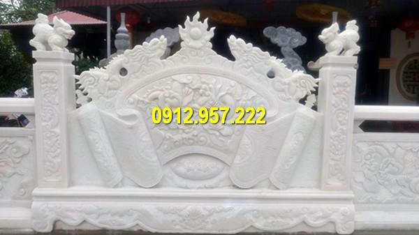 Mẫu bình phong bằng đá trắng ở Nghệ An, Thanh Hoá, Ninh Bình
