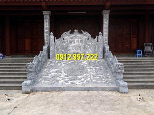 Hình ảnh cuốn thư đá đẹp đặt nhà thờ họ, đình chùa