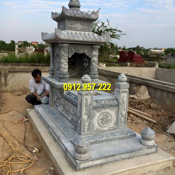 Báo giá lăng mộ đá 2 mái Ninh Vân Ninh Bình