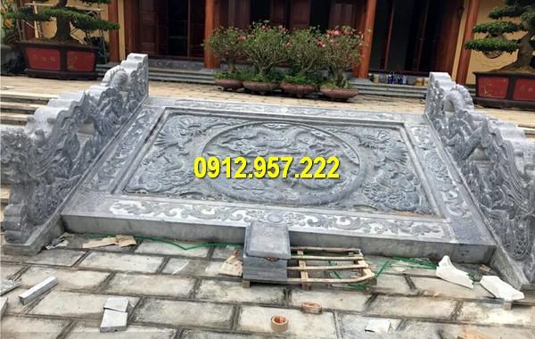 Chiếu rồng đá được làm từ đá xanh tự nhiên để đảm bảo chất lượng