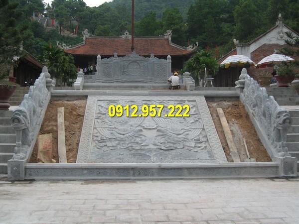Đá mỹ nghệ Thái Vinh thi công lắp đặt chiếu rồng đá nhà thờ họ giá rẻ uy tín