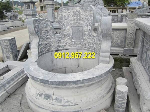 Cấu tạo mộ tròn gồm mộ khối đá hoặc nhiều khối ghép lạ với nhau