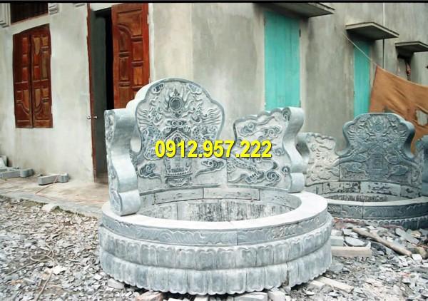 Đá mỹ nghệ Thái Vinh thi công lắp đặt lăng mộ tròn bằng đá Ninh Vân Ninh Bình