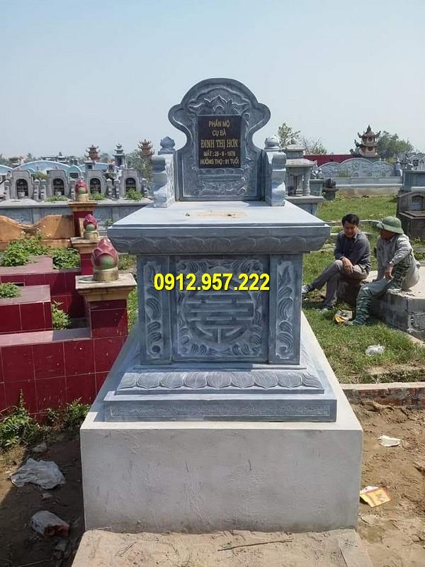 Mẫu mộ bành đá tự nhiên đẹp, kích thước chuẩn phong thuỷ