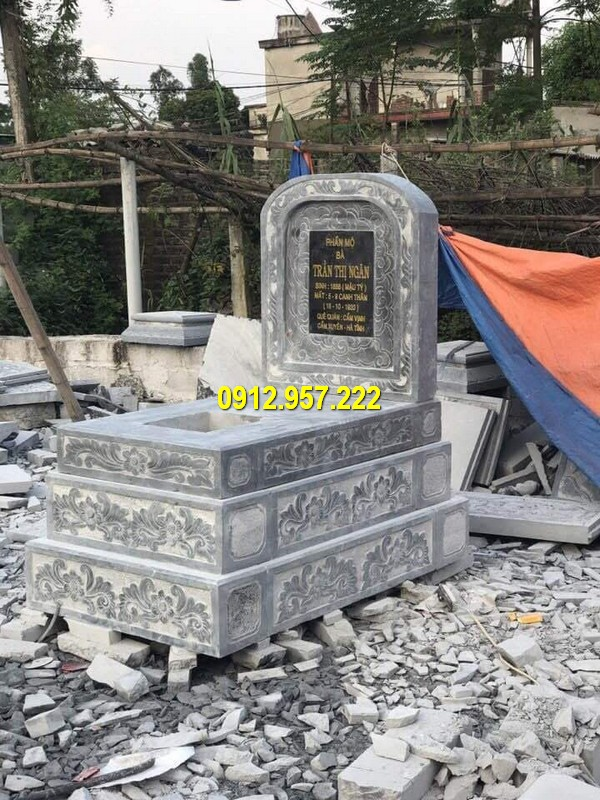 Đá mỹ nghệ Thãi Vinh thi công lắp đặt mộ bành đá giá rẻ uy tín