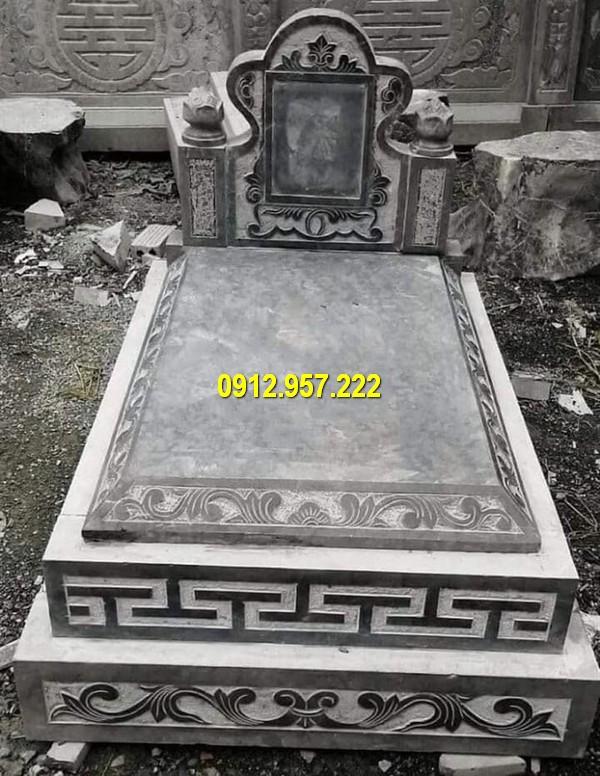 Mộ tam sơn đá xanh đen