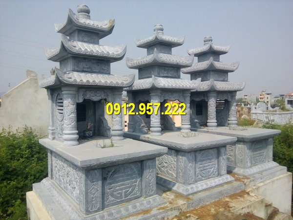 Mộ đá 3 mái – Mẫu mộ ba mái đá tự nhiên đẹp nhất Việt Nam