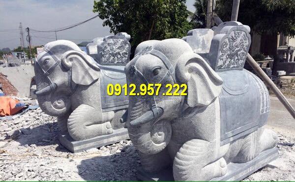 Tượng voi bằng đá giúp chiêu may mắn