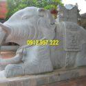 Tượng con voi bằng đá đẹp chuẩn phong thuỷ