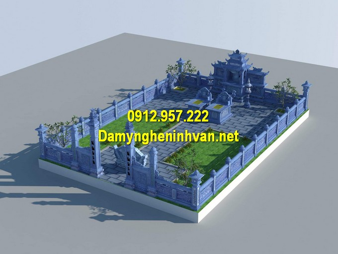 Bản vẽ thiết kế cổng khu lăng mộ đẹp