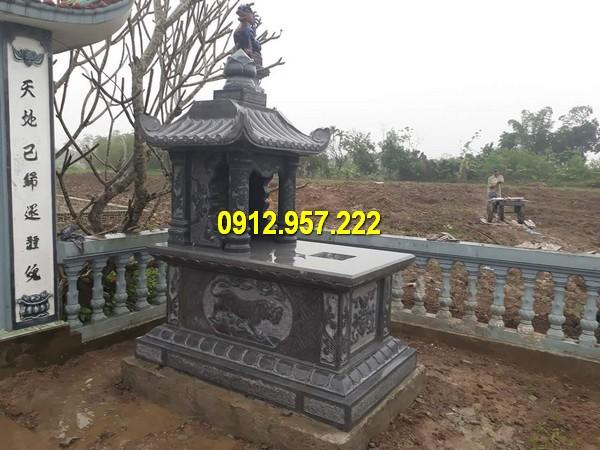 Đá mỹ nghệ Thái Vinh thi công lắp đặt mộ một đao bằng đá giá rẻ uy tín