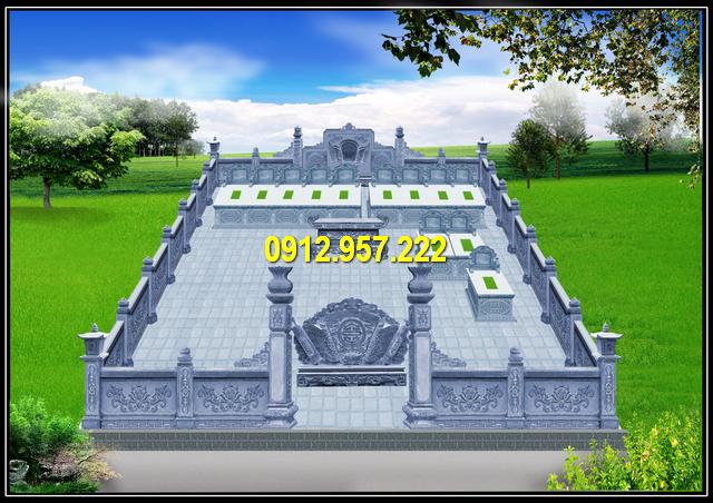 Bản vẽ thiết kế khu lăng mộ đá đẹp Ninh Vân Ninh Bình