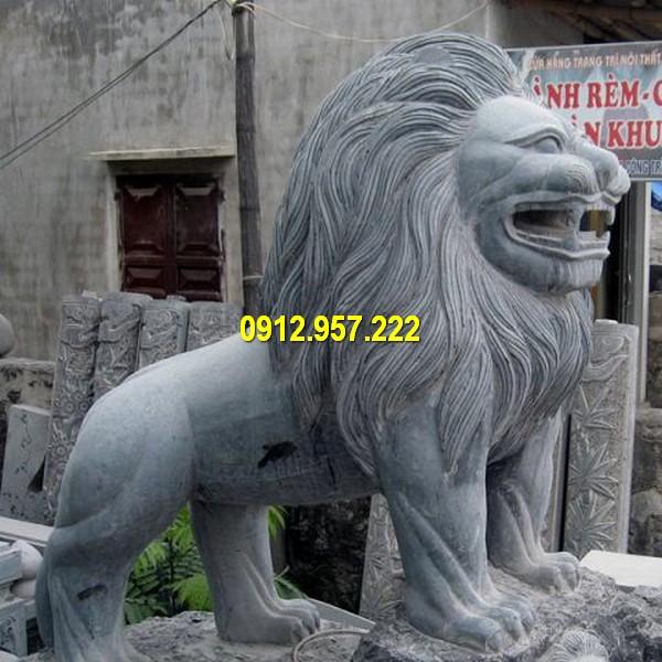 Thiết kế sư tử đá cao 1m đẹp