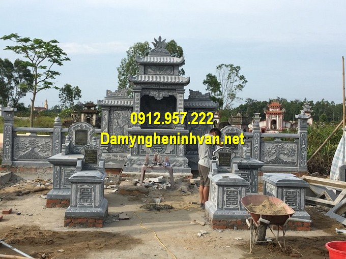 Thiết kế khu lăng mộ gia đình đơn giản