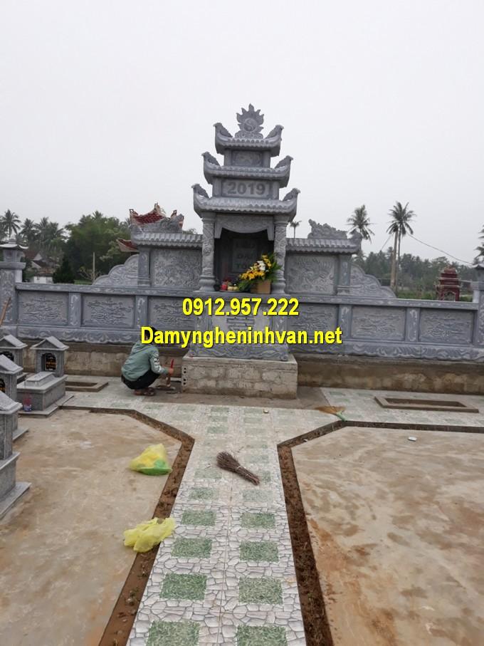 Khu nghĩa trang mộ đá gia đình chuẩn phong thuỷ