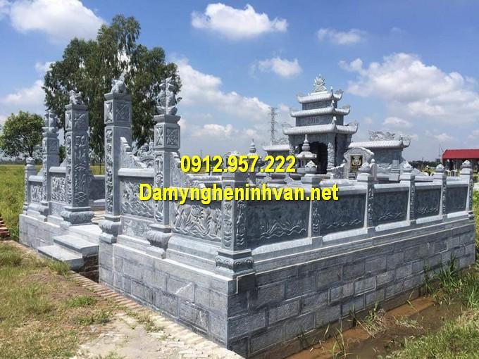 Khu mộ đá gia đình đẹp Ninh Vân Ninh Bình